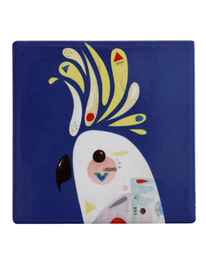 Pete Cromer Ceramic Square Tile Coaster 9.5cm Cockatoo image 1