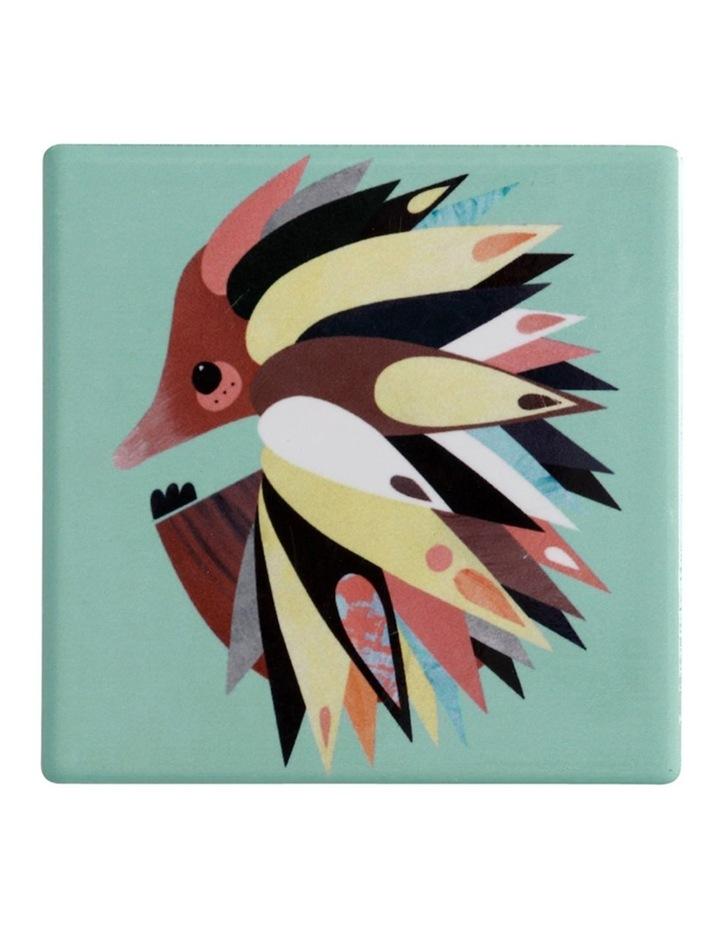 Pete Cromer Ceramic Square Tile Coaster 9.5cm Echidna image 1