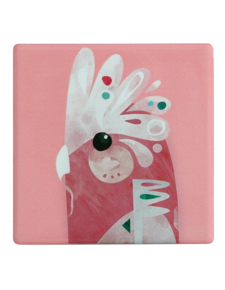 Pete Cromer Ceramic Square Tile Coaster 9.5cm Galah image 1