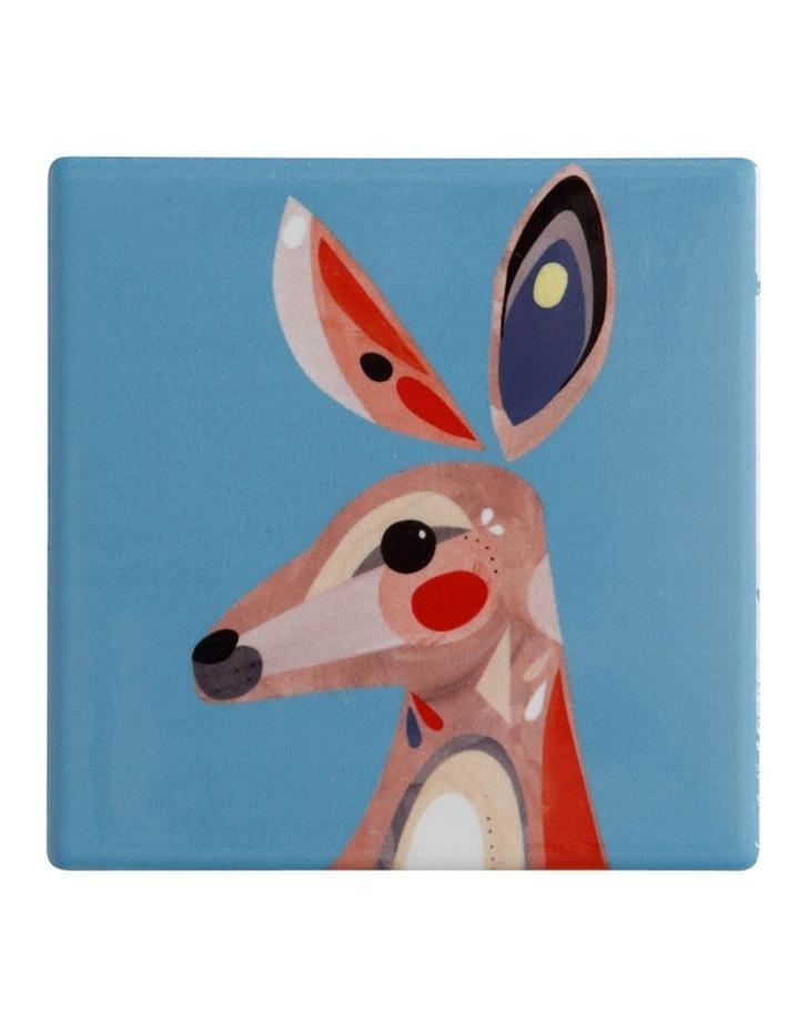 Pete Cromer Ceramic Square Tile Coaster 9.5cm Kangaroo image 1