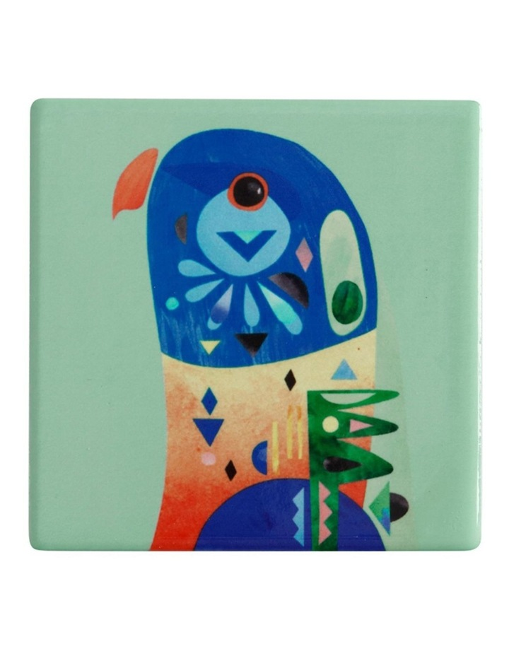 Pete Cromer Ceramic Square Tile Coaster 9.5cm Lorikeet image 1