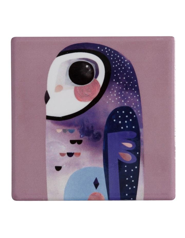 Pete Cromer Ceramic Square Tile Coaster 9.5cm Owl image 1