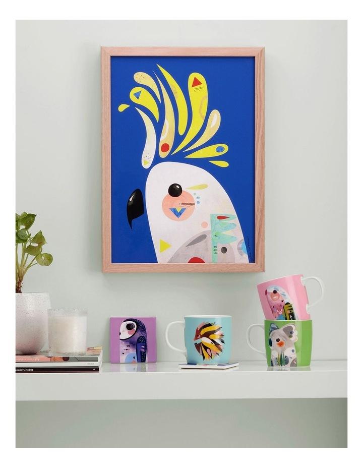 Pete Cromer Ceramic Square Tile Coaster 9.5cm Owl image 2