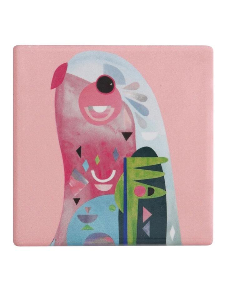 Pete Cromer Ceramic Square Tile Coaster 9.5cm Parrot image 1