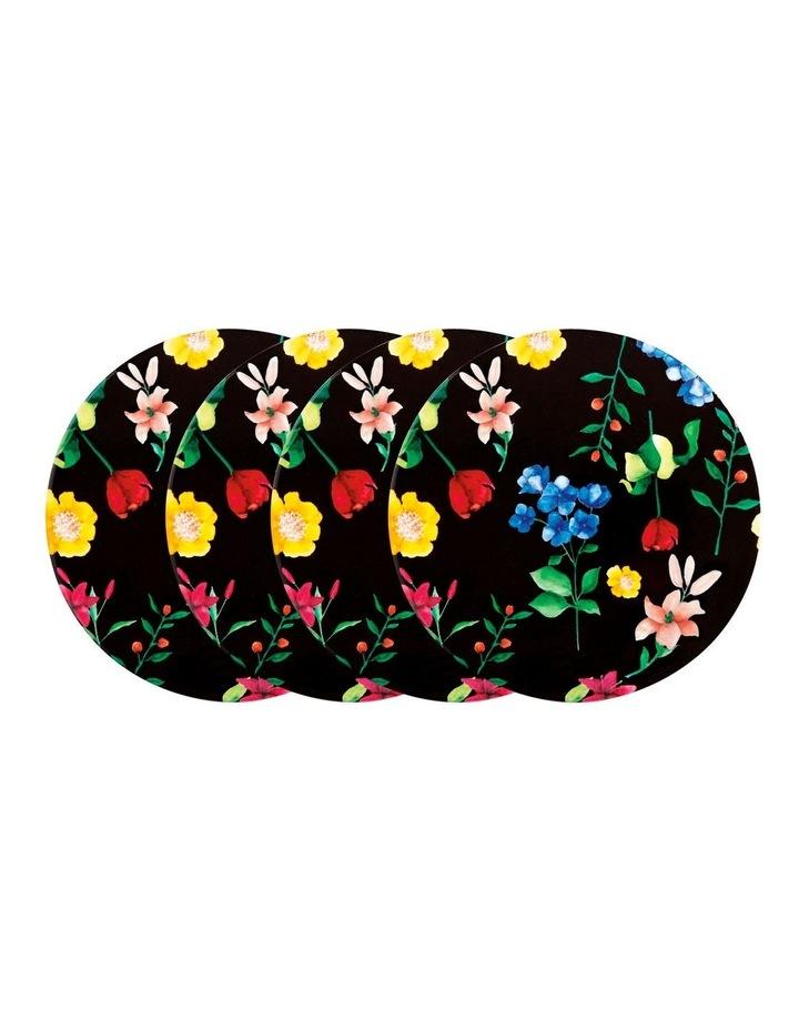 Teas & C's Contessa Ceramic Round Coaster Set of 4 Gift Boxed Black image 1