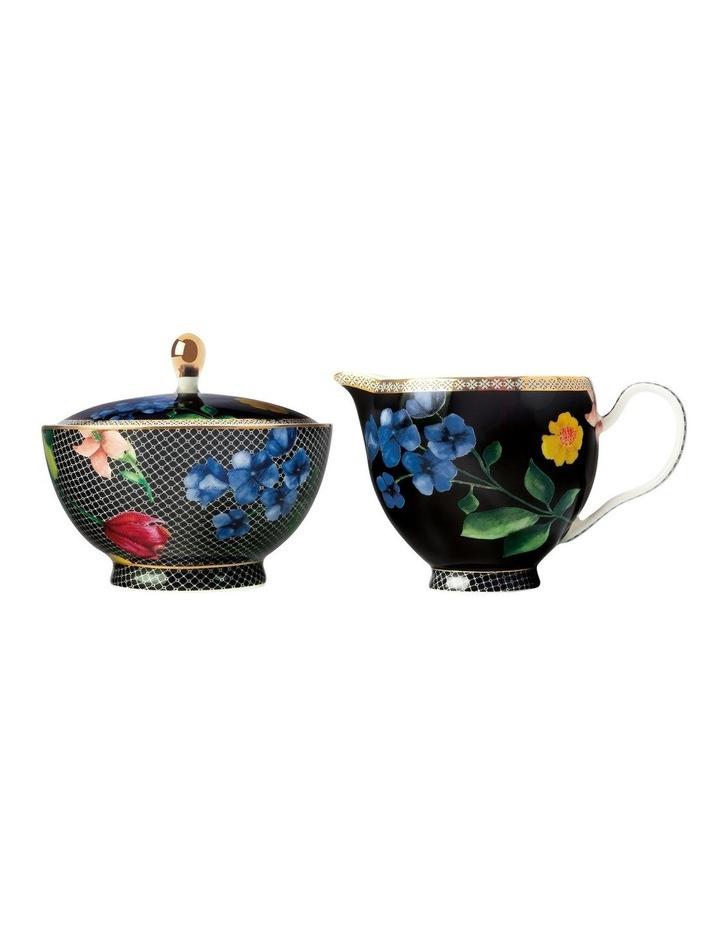 Teas & C's Contessa Sugar & Creamer Set Black Gift Boxed image 1