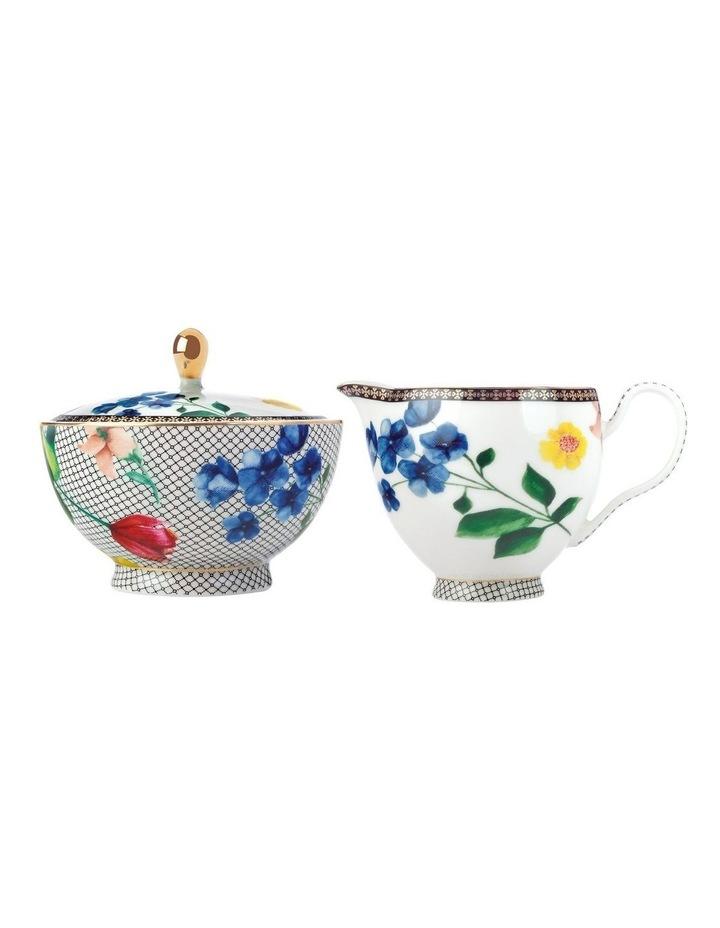 Teas & C's Contessa Sugar & Creamer Set White Gift Boxed image 1