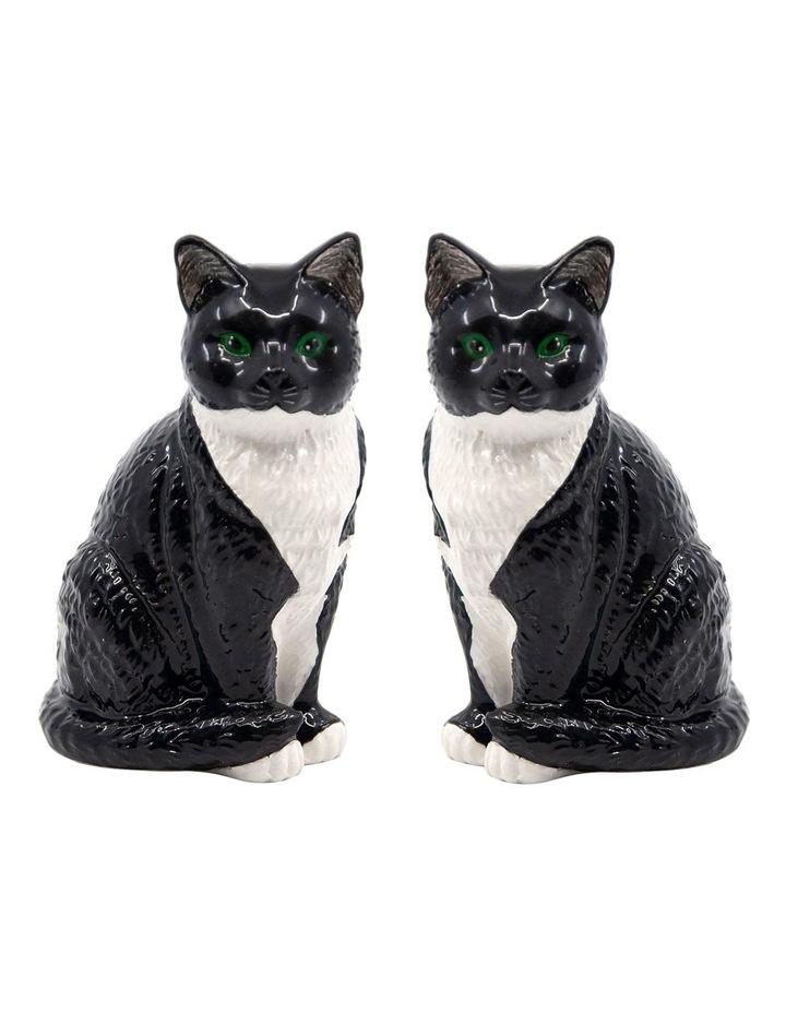 Animalia Shaker Set Of 2 Black And White Cat image 1