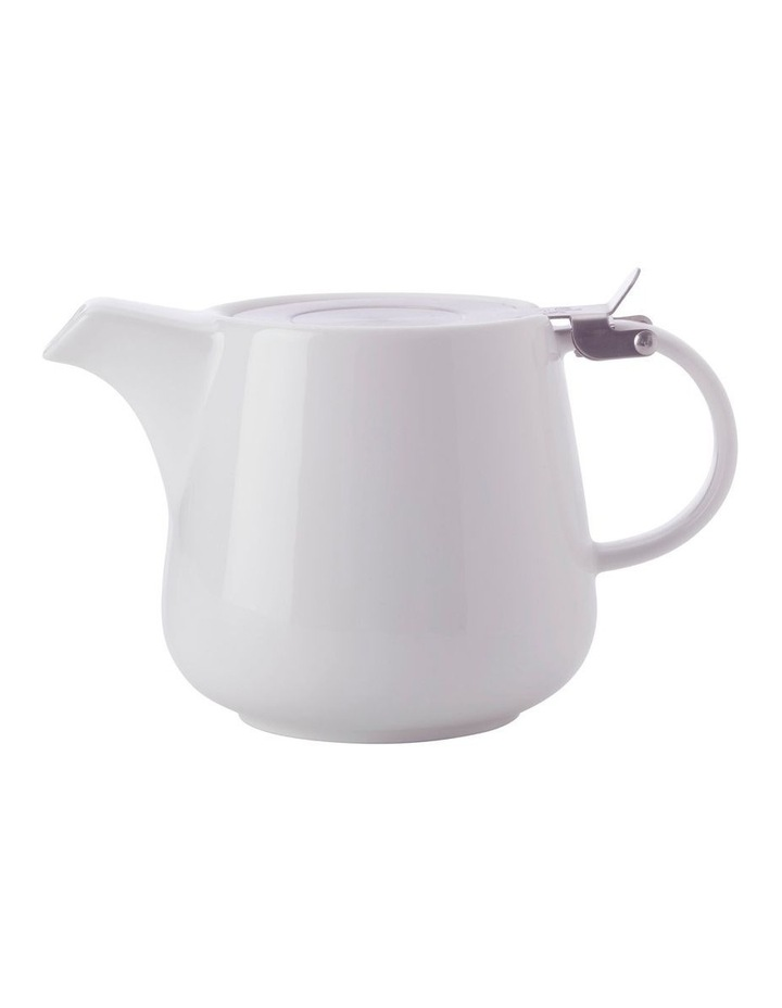 White Basics Teapot with Infuser 1.2L White Gift Boxed image 1