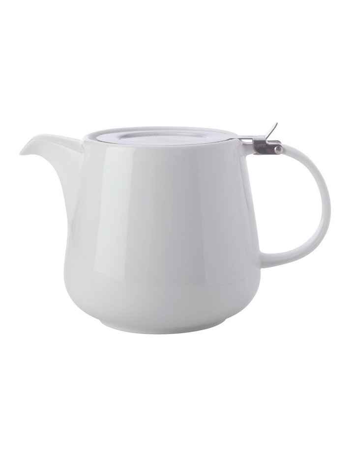 White Basics Teapot with Infuser 600ML White Gift Boxed image 1
