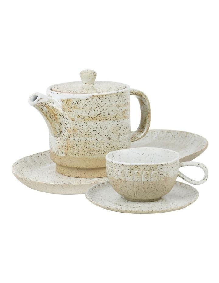 Ceylon Teapot, Cup & Tray Set image 1