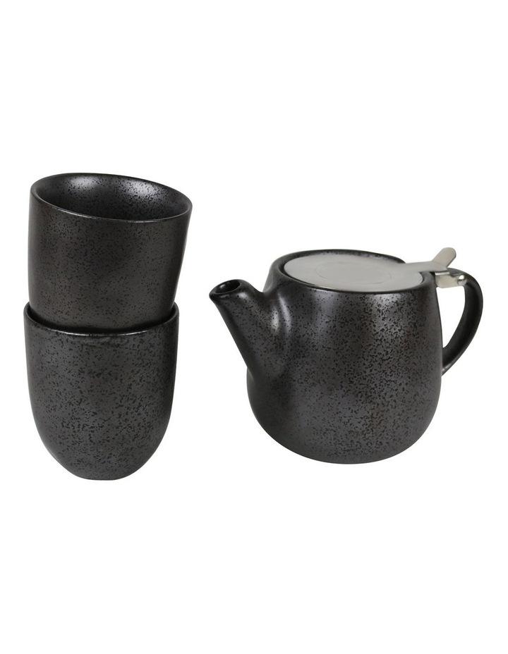 Earth Black Teapot & Set-2 Latte Cups image 1