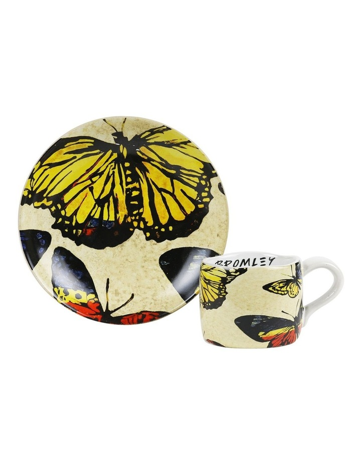 Bromley Childrens Set (Plate & Cup) - Lacquered Butterflies image 1