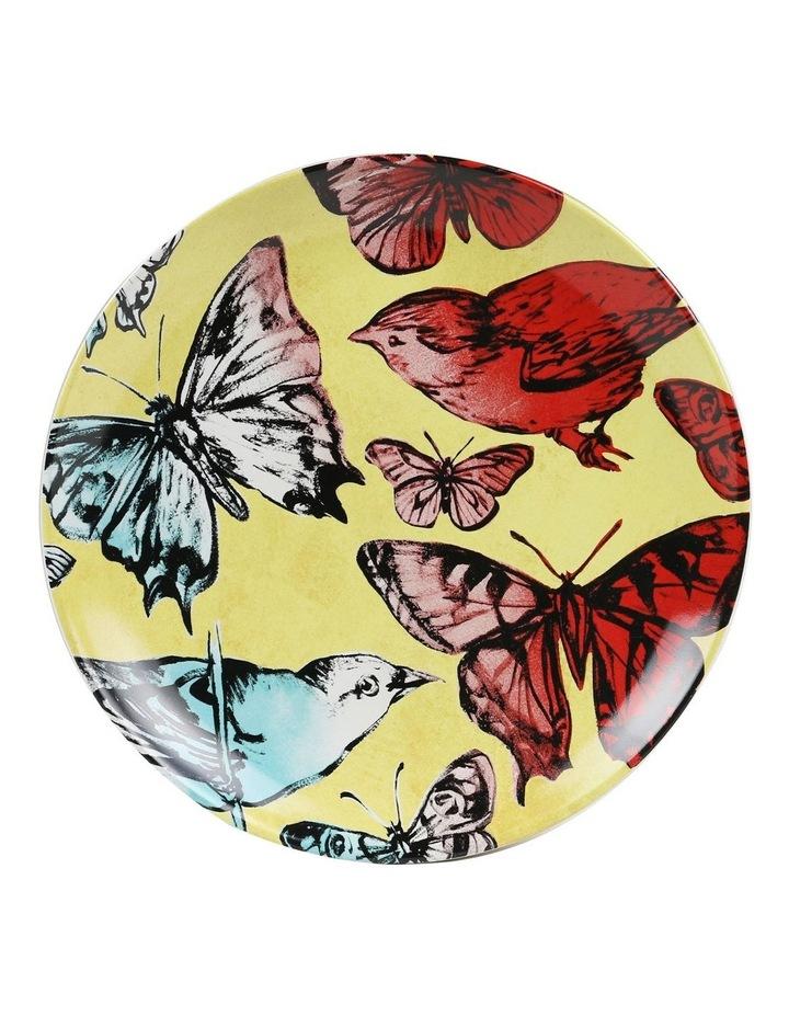Bromley Hanging Plate Sets 4 x 19cm - Blue Birds 5x Birds Butterflies Dip Painted 3 Birds & Butterflies image 2