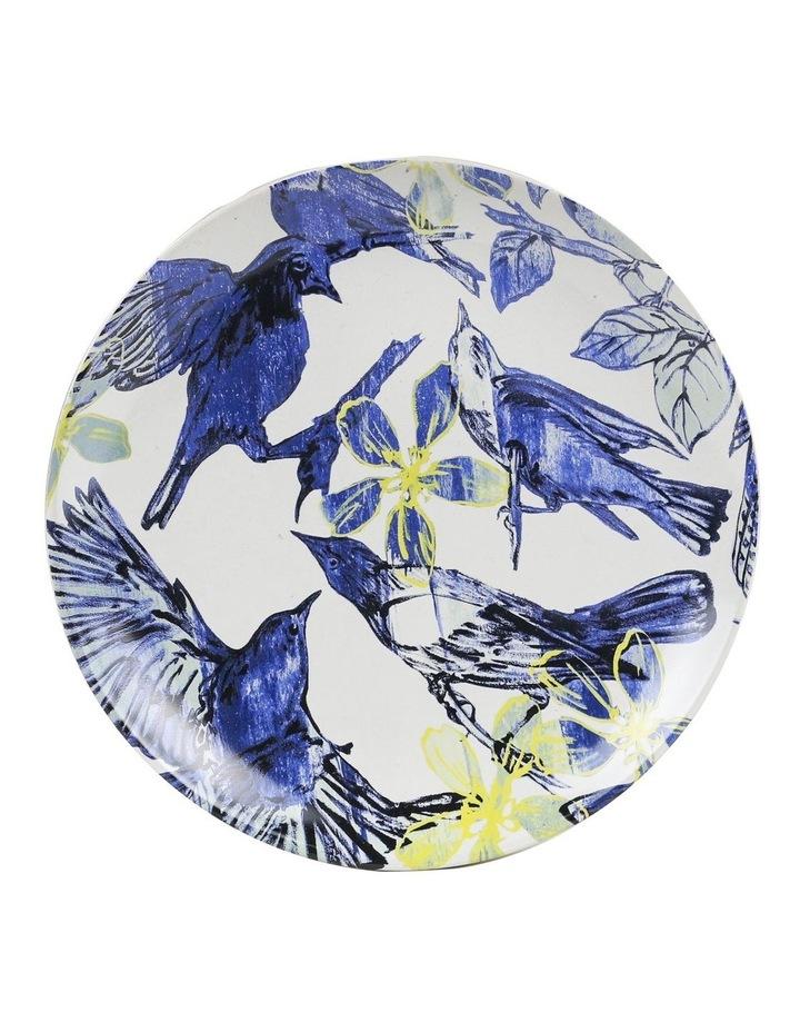 Bromley Hanging Plate Sets 4 x 19cm - Blue Birds 5x Birds Butterflies Dip Painted 3 Birds & Butterflies image 3