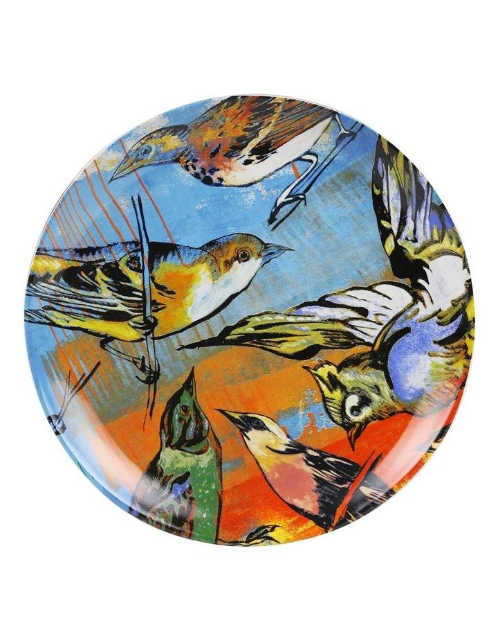 Bromley Hanging Plate Sets 4 x 19cm - Blue Birds 5x Birds Butterflies Dip Painted 3 Birds & Butterflies image 4