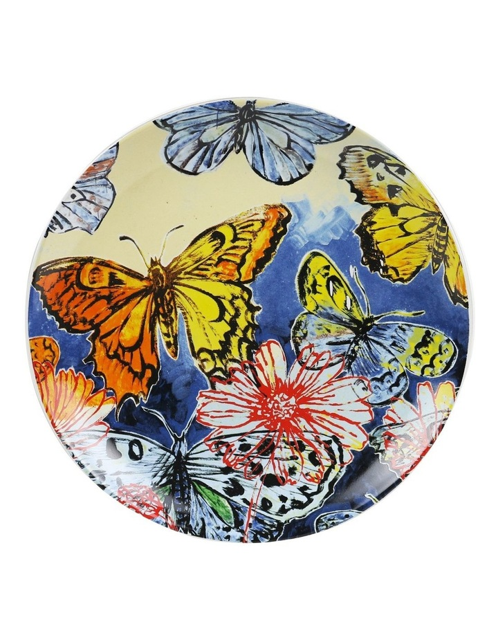 Bromley Hanging Plate Sets 4 x 19cm - Blue Birds 5x Birds Butterflies Dip Painted 3 Birds & Butterflies image 5