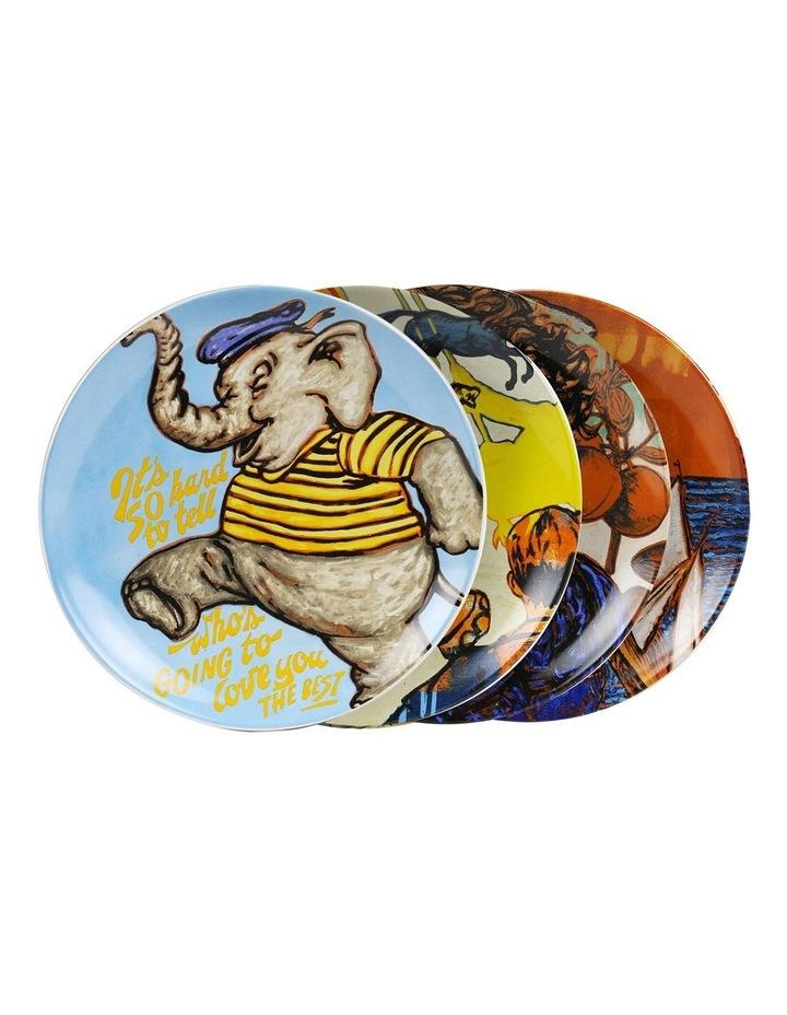 Bromley Hanging Plate Sets 4 x 19cm - Children 4 Elephant Portrait Portrait image 1