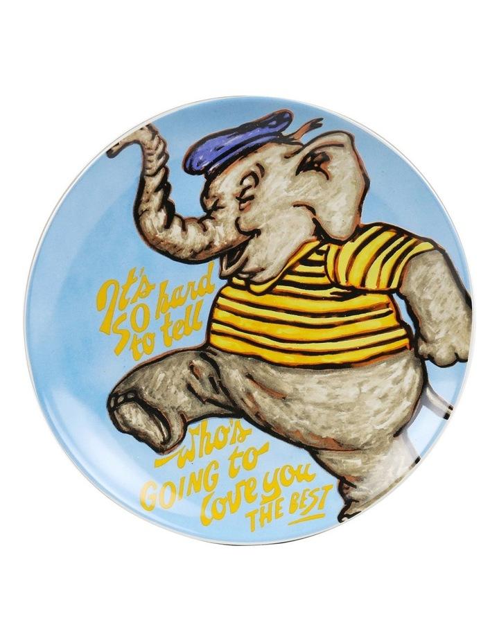 Bromley Hanging Plate Sets 4 x 19cm - Children 4 Elephant Portrait Portrait image 5