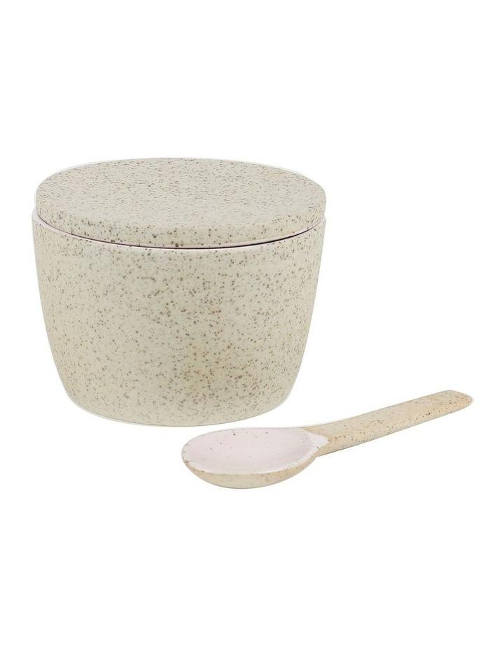 Granite Serving Range Sugar Pot & Spoon Set - Pink image 1