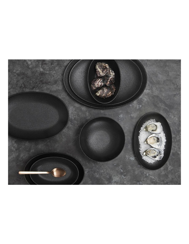 Caviar Oval Bowl 20x14cm Black image 2
