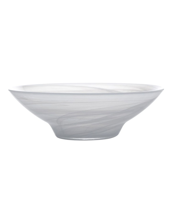 Marblesque Bowl 32cm White image 1