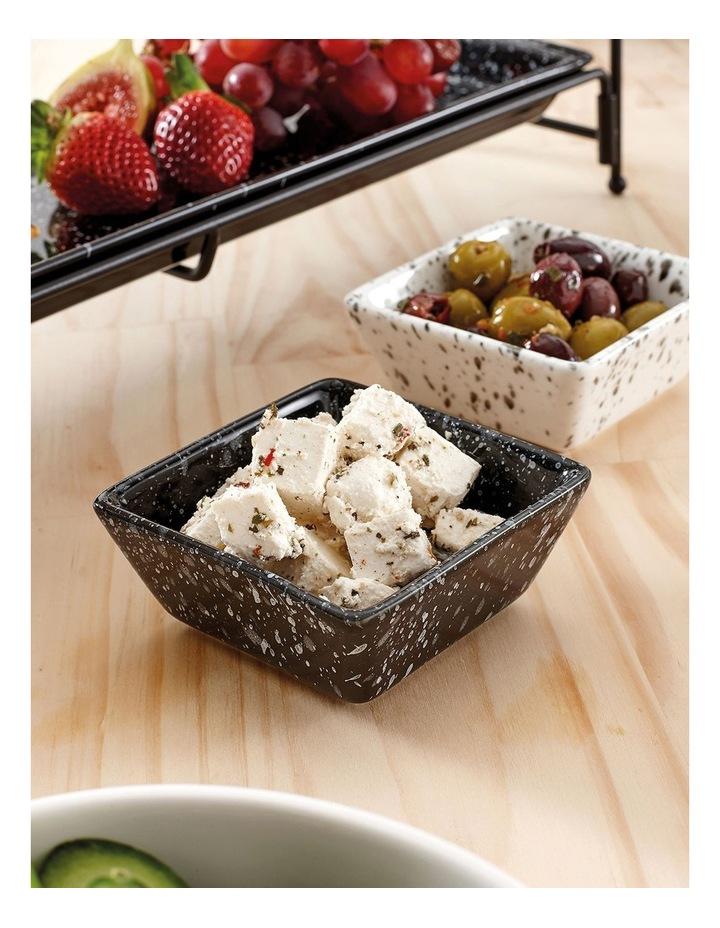 Terrazzo White Square Bowl image 2