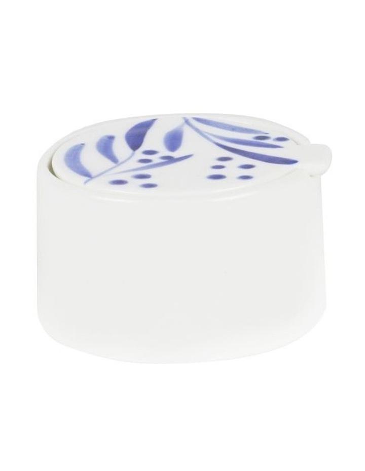 Bone China Wattle Sugar Bowl - Blue Hand Brushed image 1