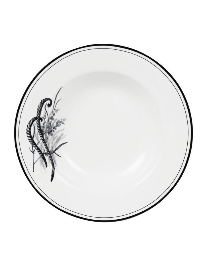 Matilda 22cm Bone China Bowl in White/Black image 1