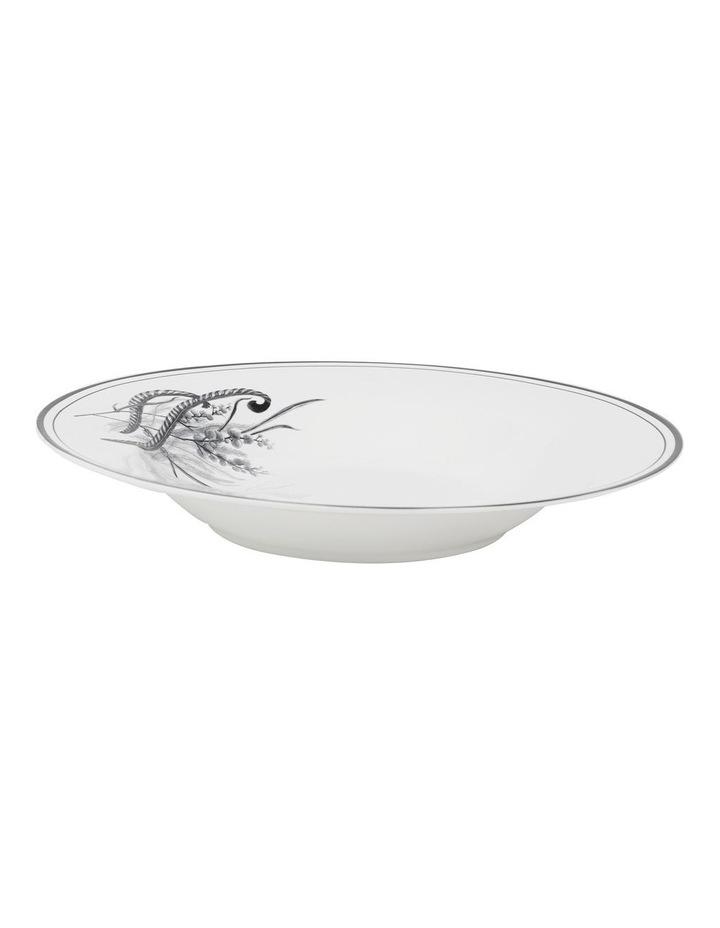 Matilda 22cm Bone China Bowl in White/Black image 2