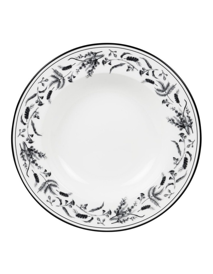 Matilda 27cm Bone China Bowl in White/Black image 1
