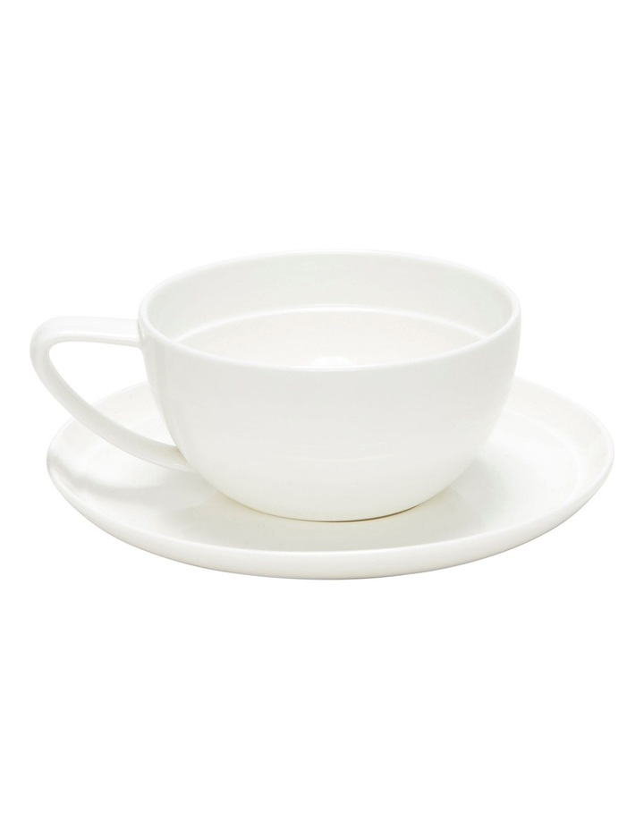 Edge Tea Cup And Saucer - 280Ml image 2