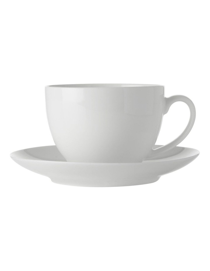 White Basics Cup & Saucer 280ML image 1