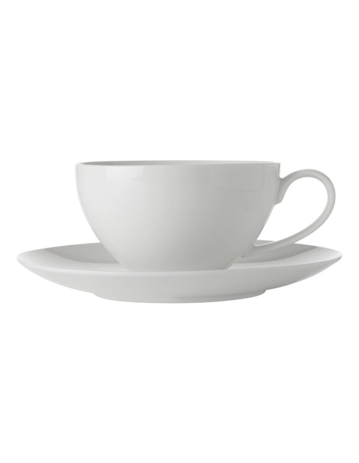 White Basics Coupe Breakfast Cup & Saucer 400ML image 1