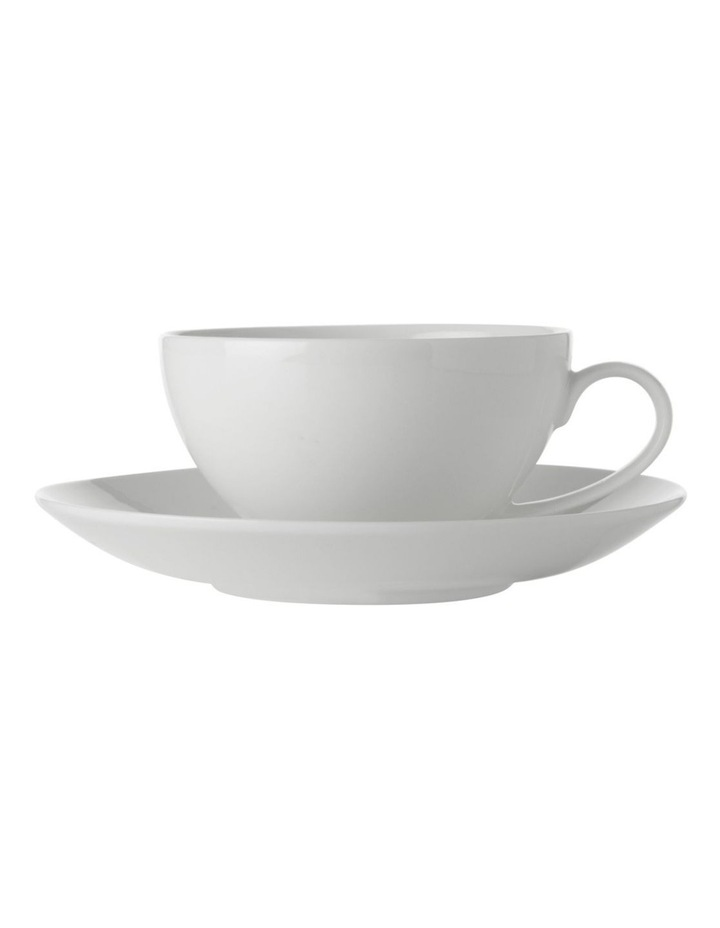 White Basics Coupe Cup & Saucer 250ML image 1