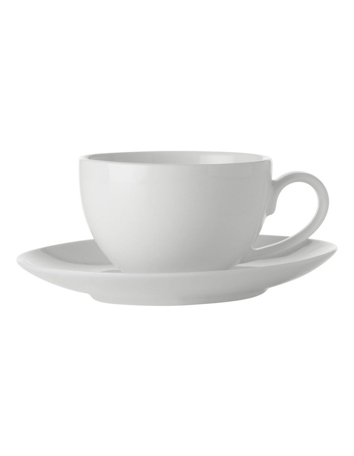 White Basics Coupe Demi Cup & Saucer 100ML image 1