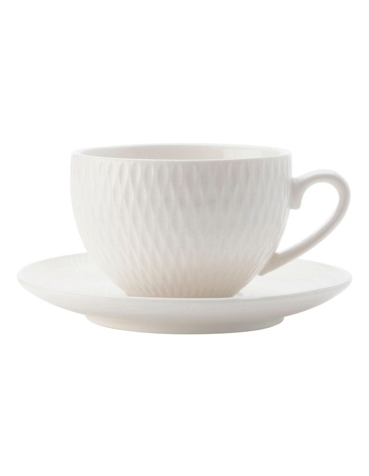 White Basics Diamonds Demi Cup & Saucer 90ML image 1