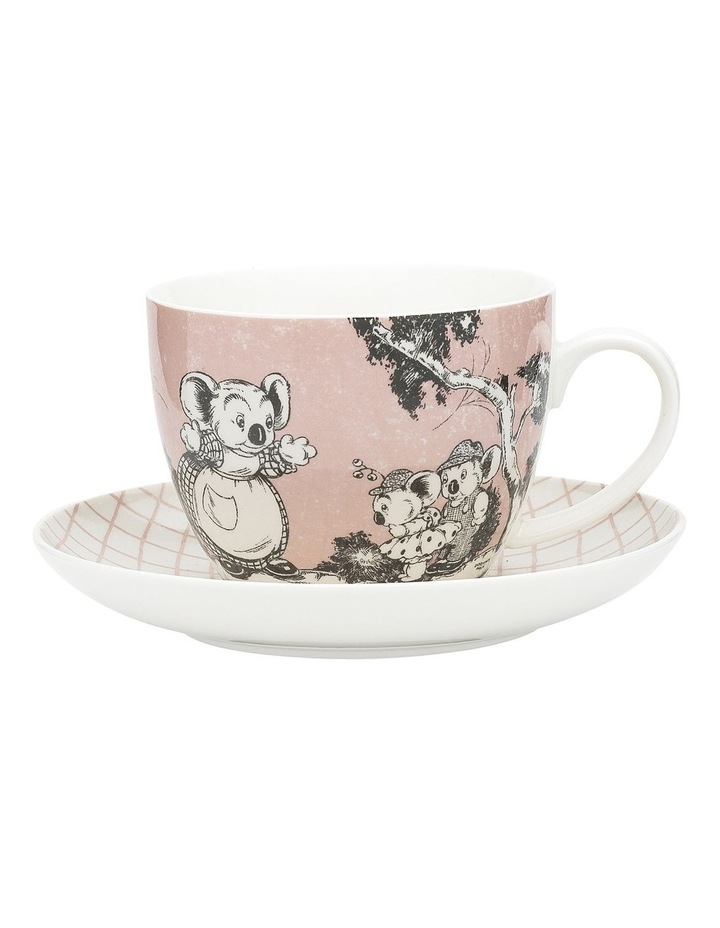 Blinky Bill Cup & Saucer 430ml Coral image 1