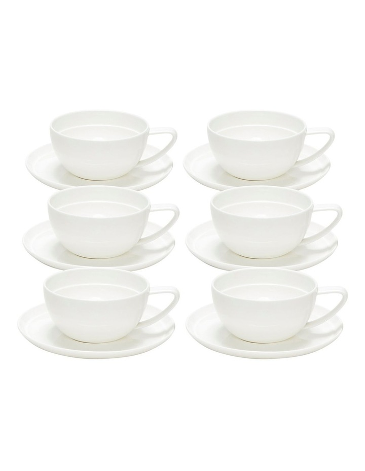 EDGE Tea Cup and Saucer - 280ml - Set of 6 image 1