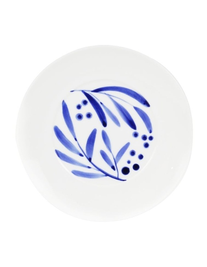 Bone China Wattle Cup & Saucer - Blue Hand Brushed image 4