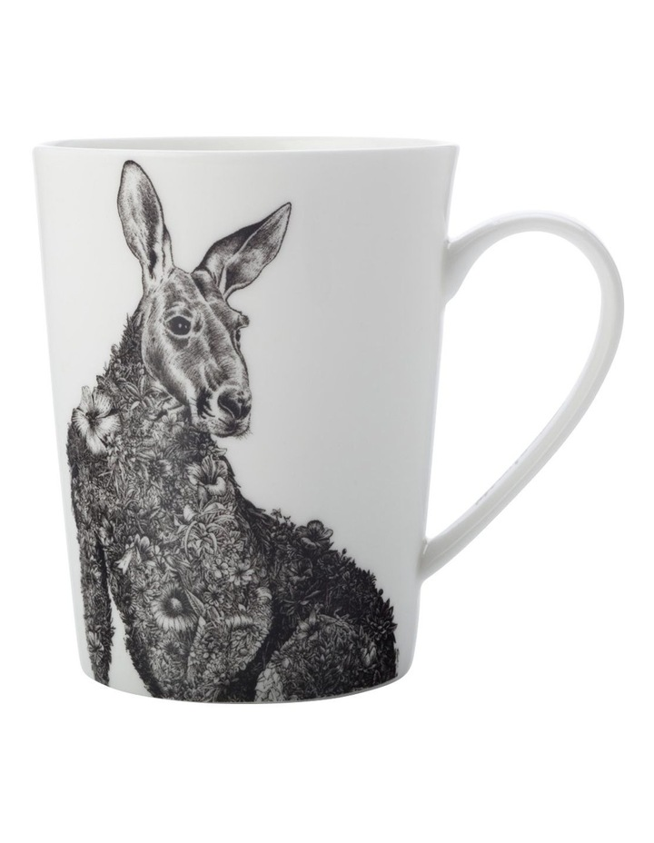 Marini Ferlazzo Mug 450ML Tall Red Kangaroo Gift Boxed image 1
