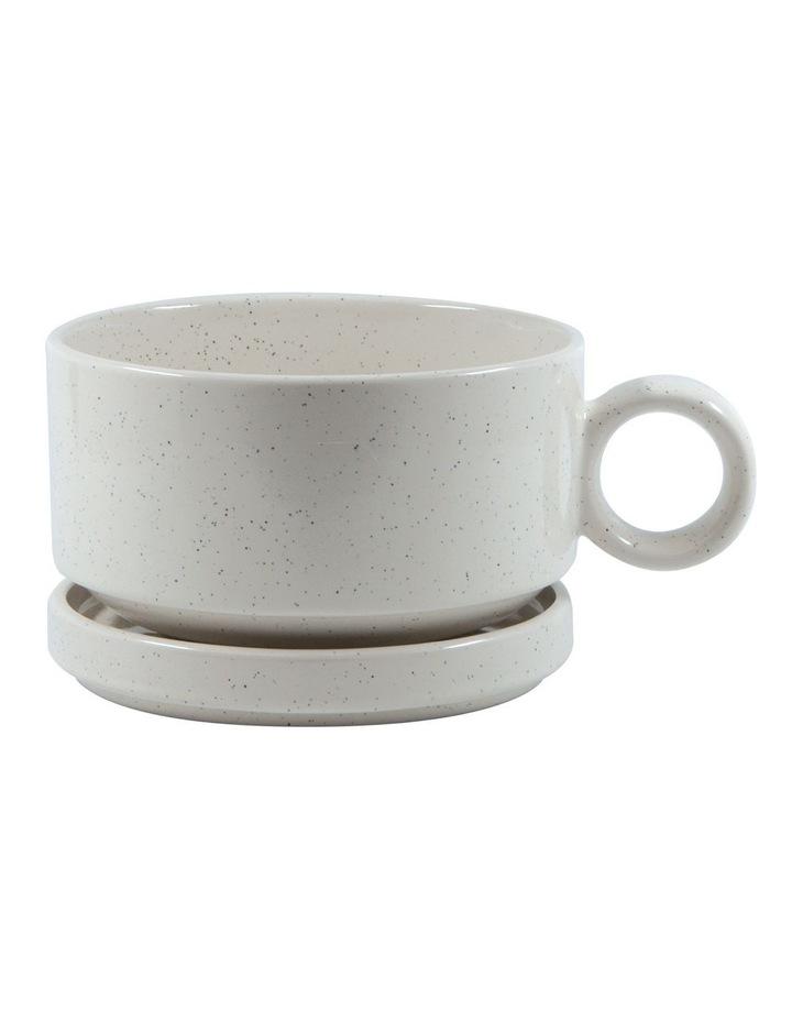 NAOKO Soup Mug 550ml with Saucer 12.5cm - Stone image 1