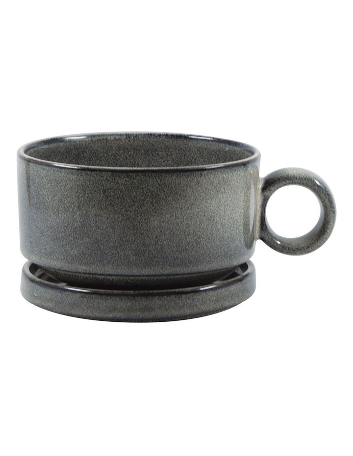 NAOKO Soup Mug 550ml with Saucer 12.5cm - Olive image 1