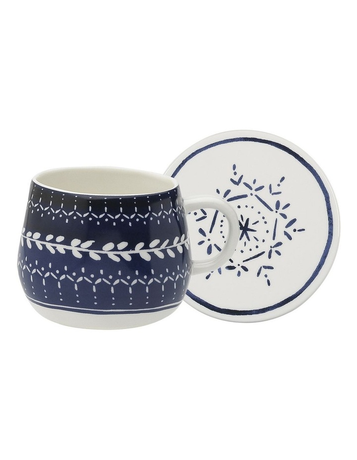 Retreat Indigo Mug & Coaster 300ml image 1