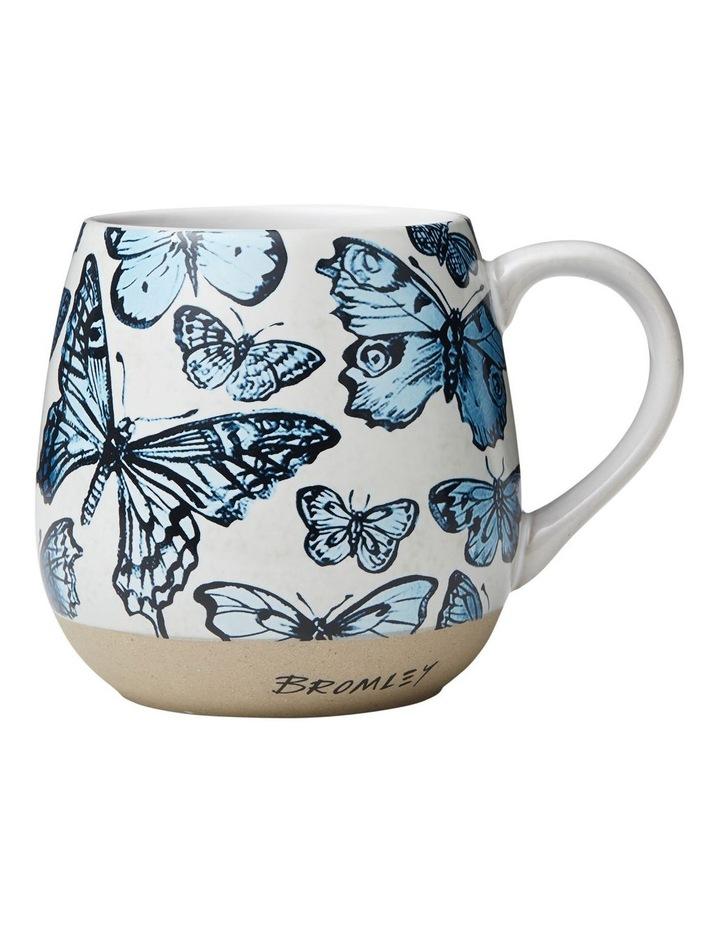 Bromley Big X-Large Hug Me Mug - Blue Butterflies image 1