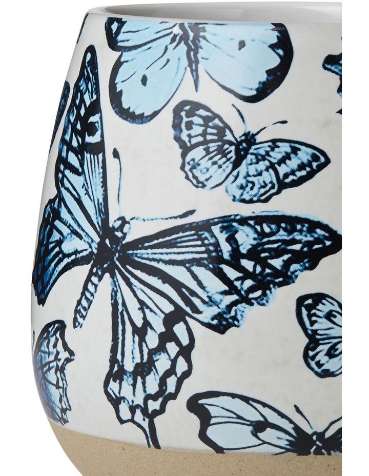 Bromley Big X-Large Hug Me Mug - Blue Butterflies image 2