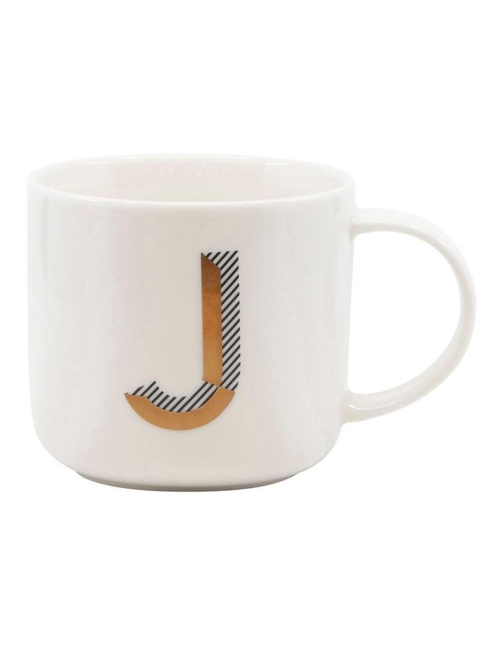 Alpha Mug 400ml - Letter J image 1