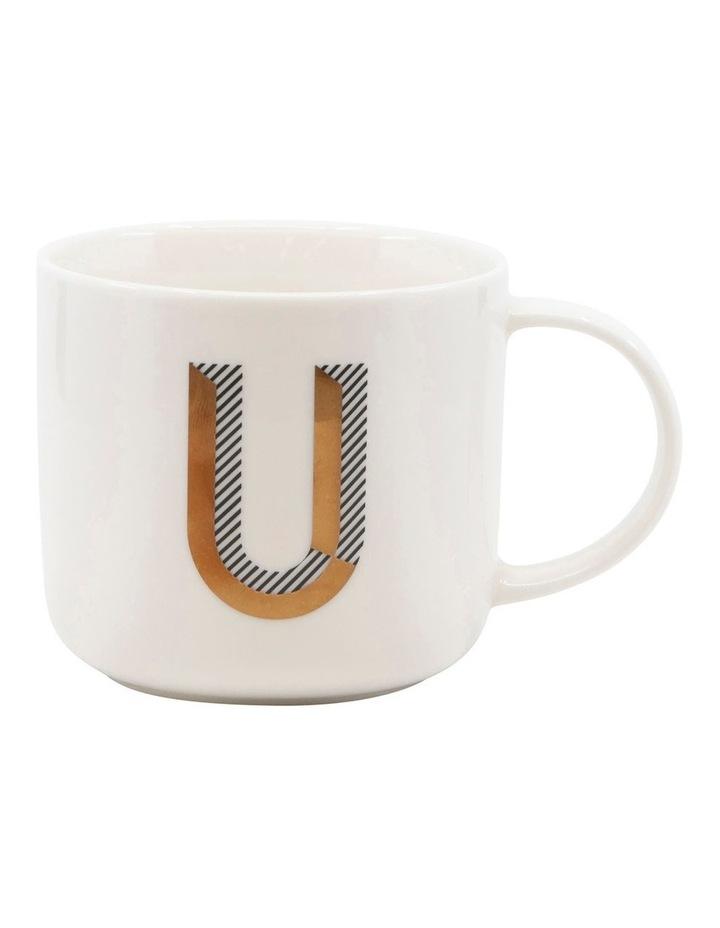 Alpha Mug 400ml - Letter U image 1