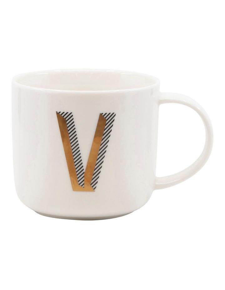 Alpha Mug 400ml - Letter V image 1