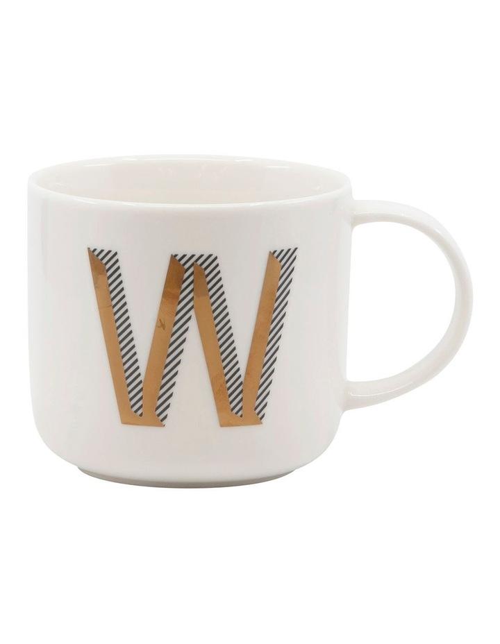 Alpha Mug 400ml - Letter W image 1